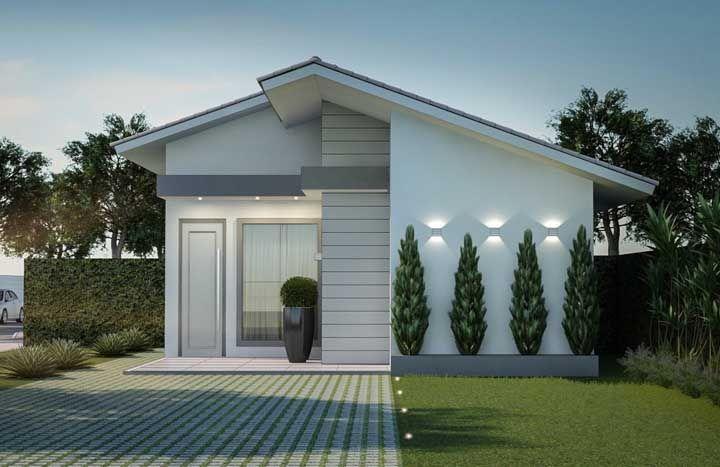Fachada de casa simples, daquelas que a gente para e fica admirando
