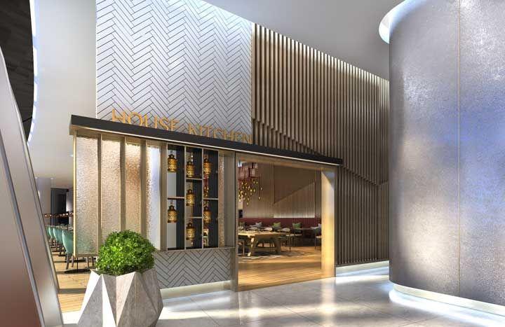 Um pouco de dourado na fachada para realçar o ar glamouroso da loja