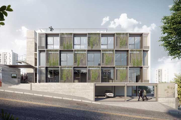 Um jardim vertical entre cada janela: um projeto para ser usado em larga escala nas cidades