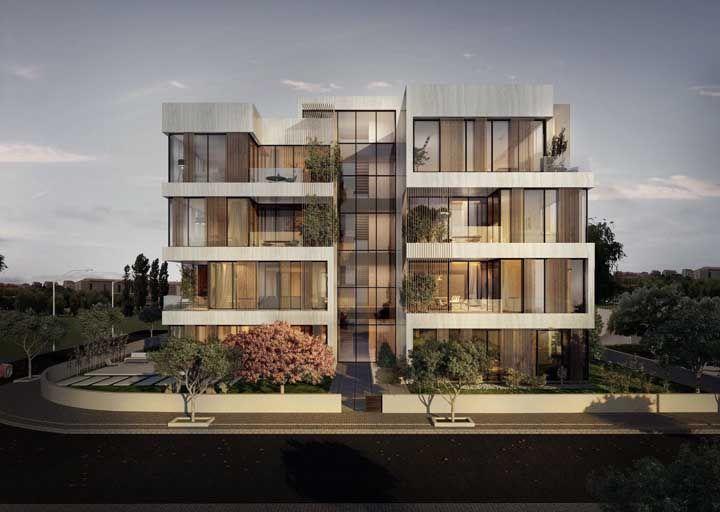 Um prédio elegante por fora e por dentro; os vidros na fachada permitem essa conclusão