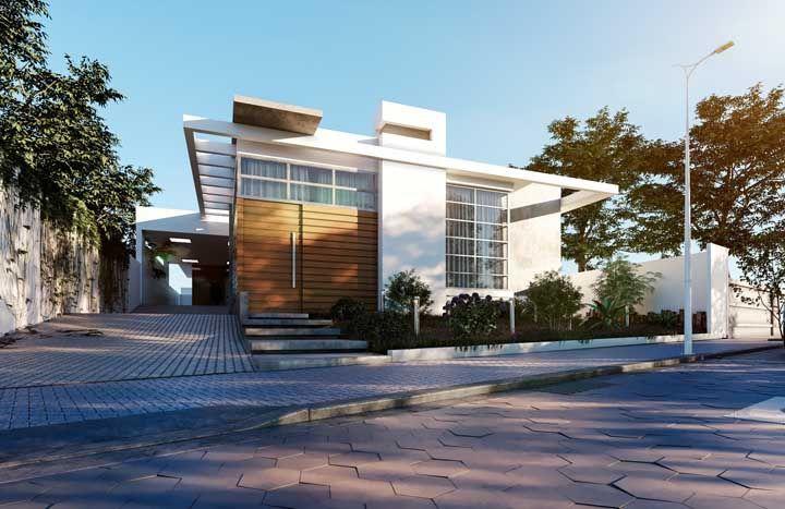 Os vãos ao redor da fachada são elementos característicos da arquitetura moderna