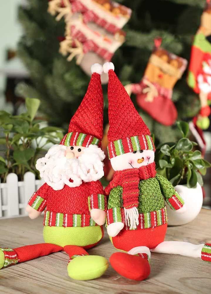 O casal preferido das crianças se tornou enfeite de mesa no natal