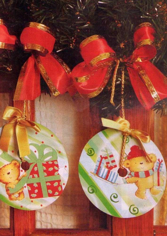 Ursinhos fofos para decorar a árvore