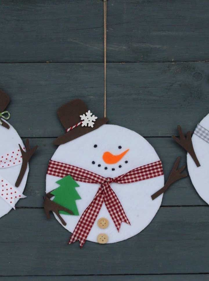 Bonecos de neve: eles também são a cara do natal