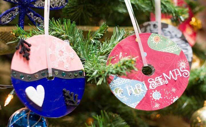 Enfeites de Natal com CD: 55 ideias para você tentar com passo a passo