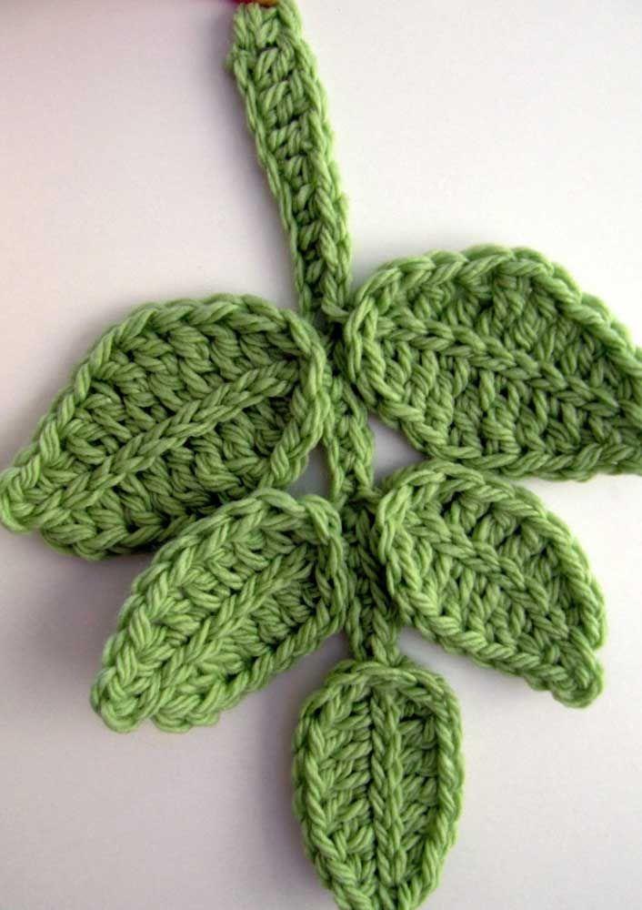 Resultado de imagem para Folhas de crochê