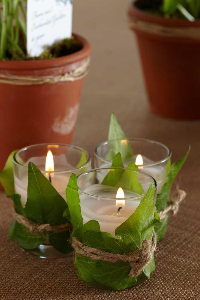 Ilumine a festa com velas