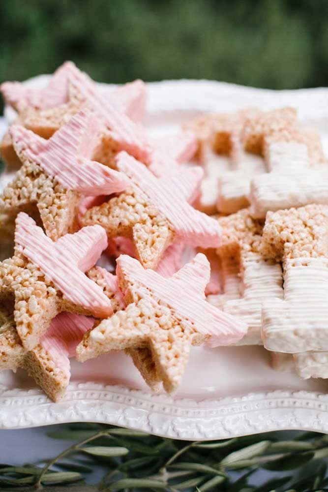 Biscoitinhos em formato de estrela para a festa Jardim Encantado