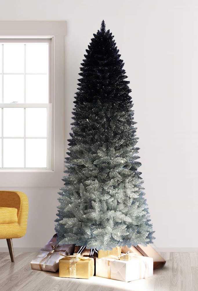 Um degradê lindo na árvore de natal