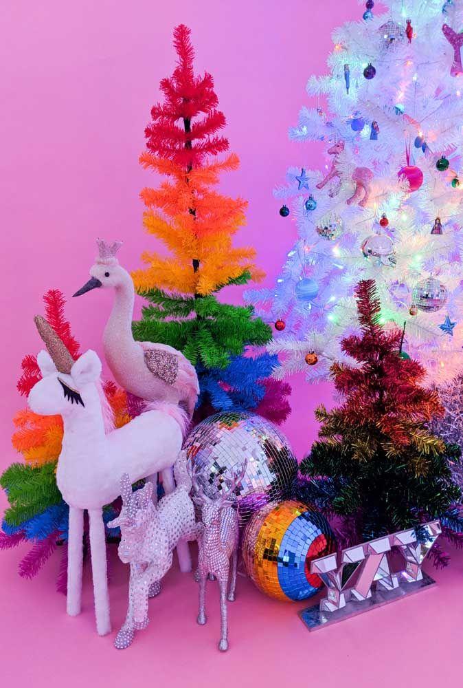 Cores e brilho também são bem vindos no natal