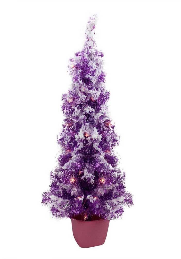 E uma versão roxinha de árvore de natal? Gosta?