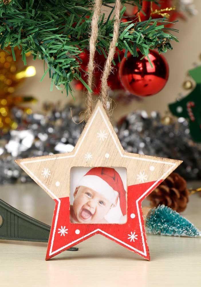 Estrela de natal ou porta retrato? Junte as duas propostas em uma