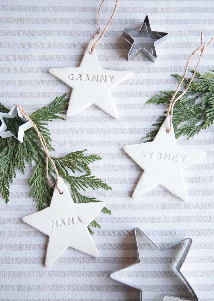 Estrelas de natal personalizadas