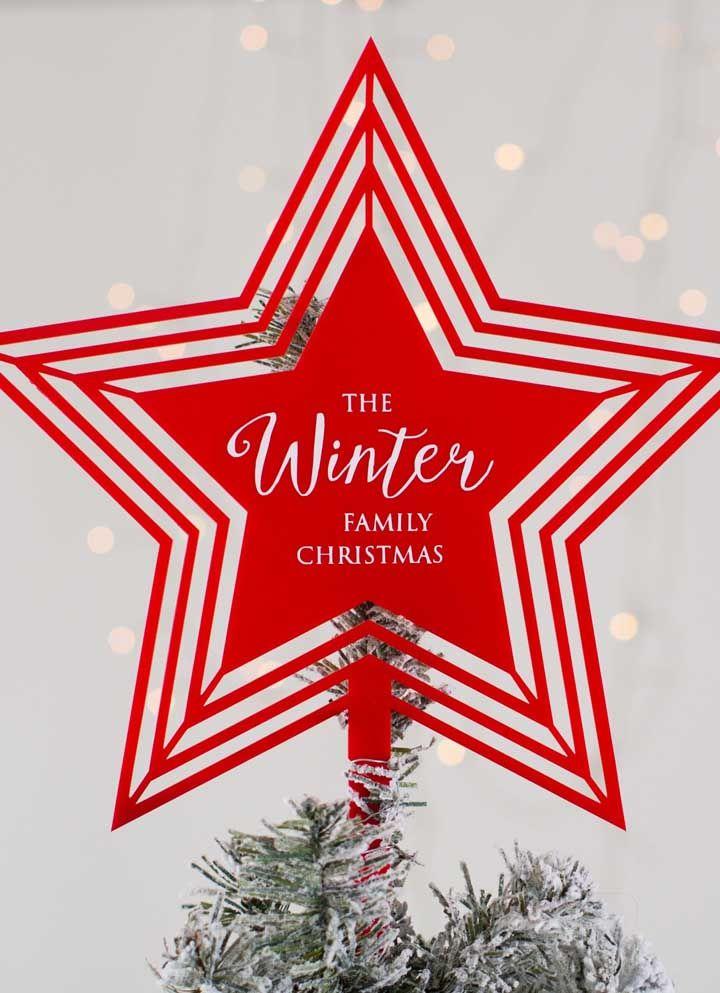 Coloque uma mensagem no centro da sua estrela de natal