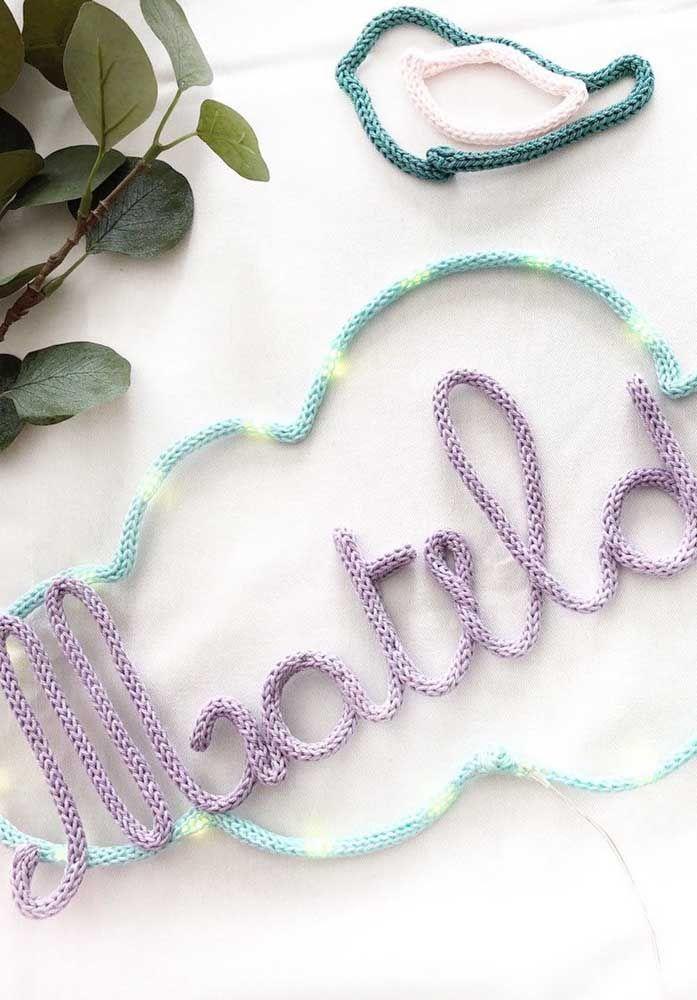 Nome na nuvem: a versão mais clássica e usual do tricotin