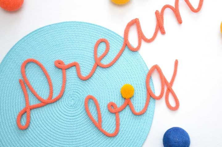 Sonhe grande, mas não deixe de dar o acabamento no tricotin