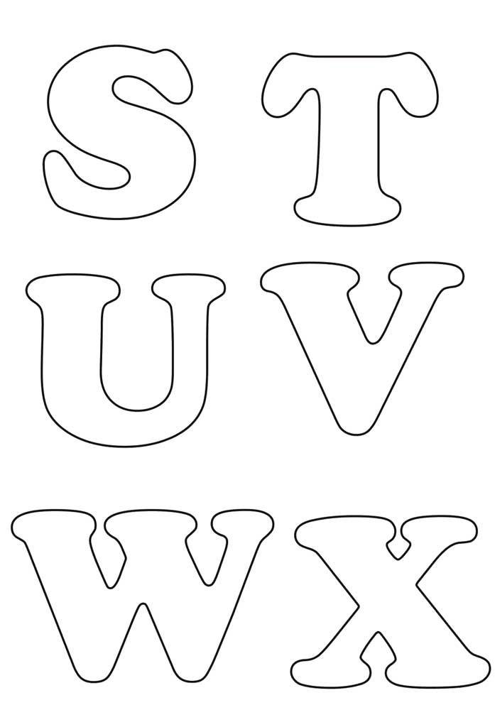 Moldes de letras grandes - STUVWX