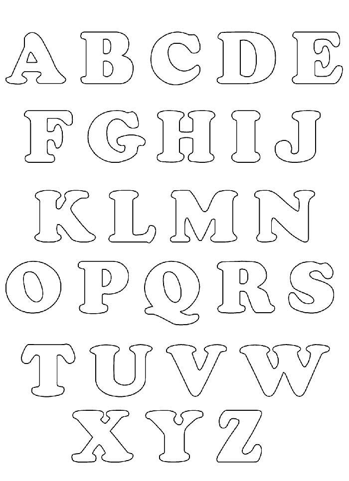 Moldes de letras em EVA – abecedário completo
