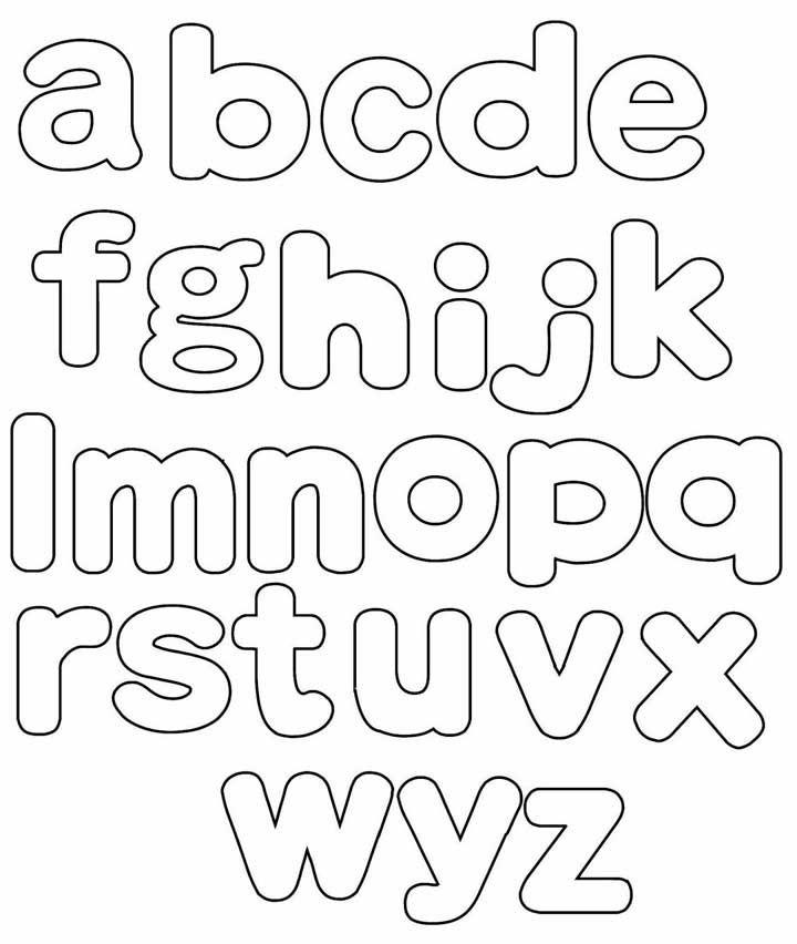Moldes de letras minúsculas – abecedário completo