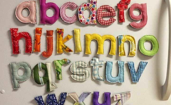Molde de letras: modelos em 3D, patchwork e outras abordagens