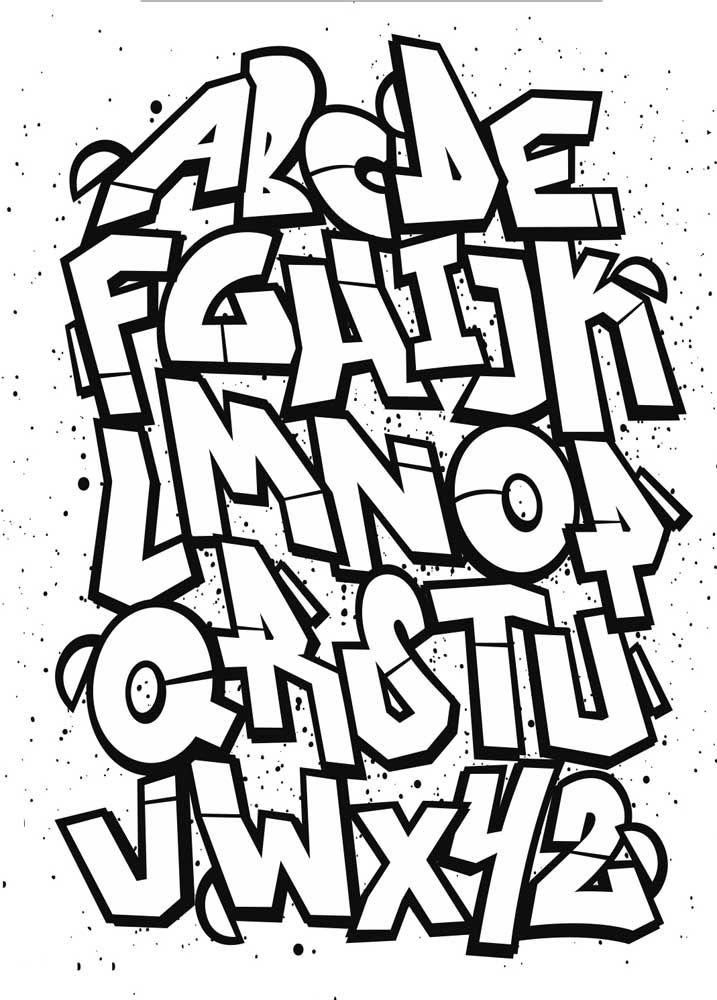 Moldes de letras para grafitti – abecedário completo