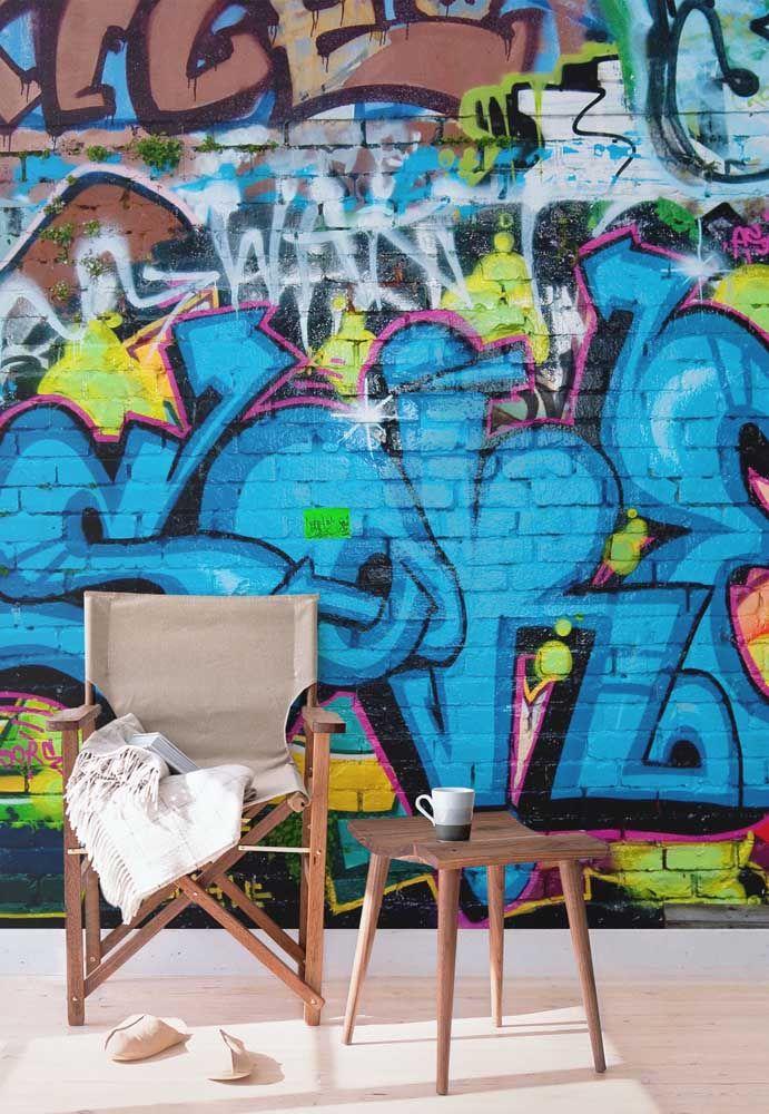 Uma parede pra lá de descolada com as letras de grafitti