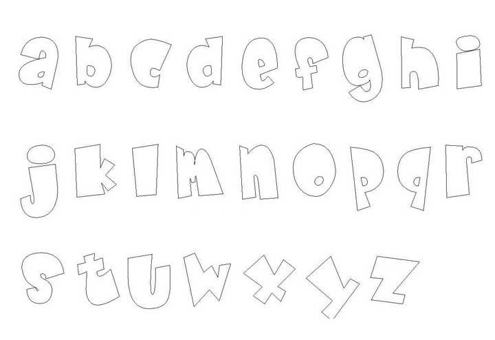 Molde de letras pequenas