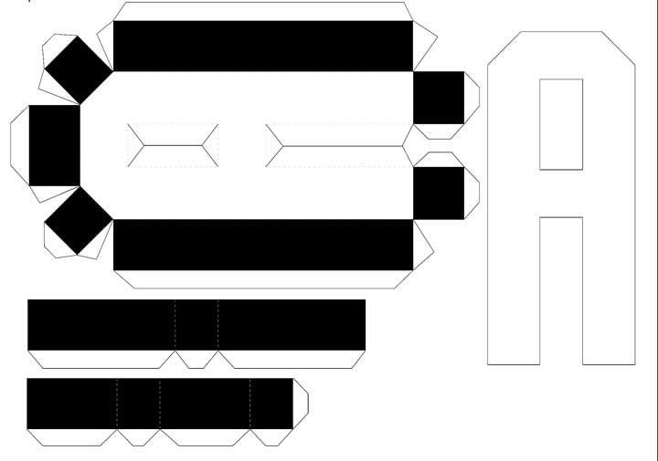 Molde de letras 3D – letra A