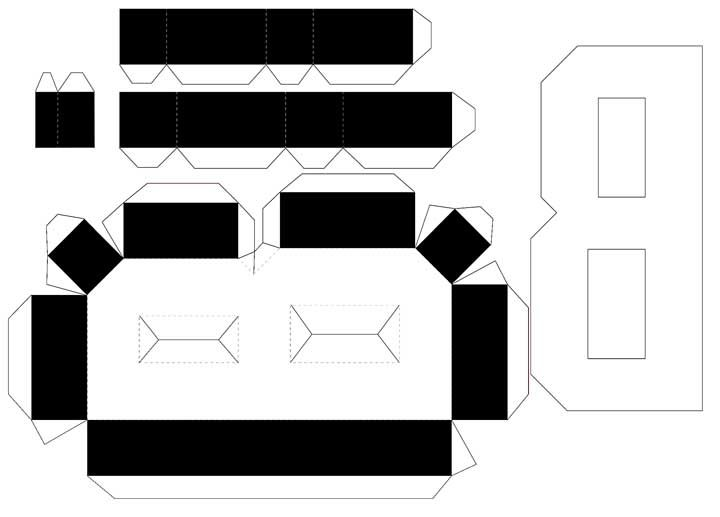 Molde de letras 3D – letra B