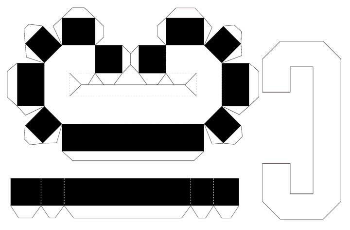 Molde de letras 3D – letra C