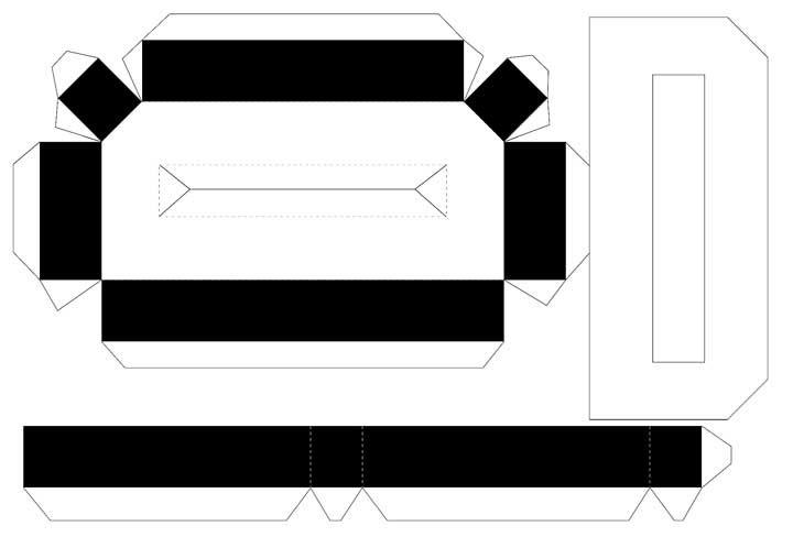 Molde de letras 3D – letra D