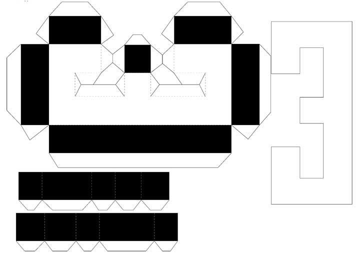 Molde de letras 3D – letra E