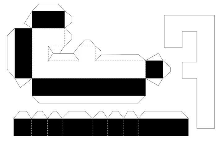 Molde de letras 3D – letra F
