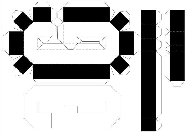 Molde de letras 3D – letra G