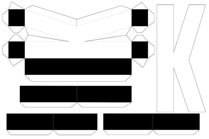 Molde de letras 3D – letra K