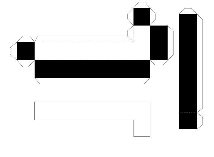 Molde de letras 3D – letra L