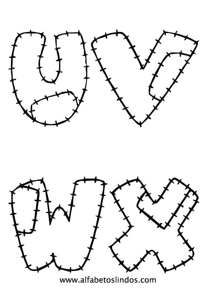 Molde De Letras Grande Patchwork Eva Pequenas 3d E Mais