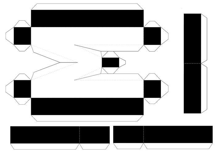 Molde de letras 3D – letra M