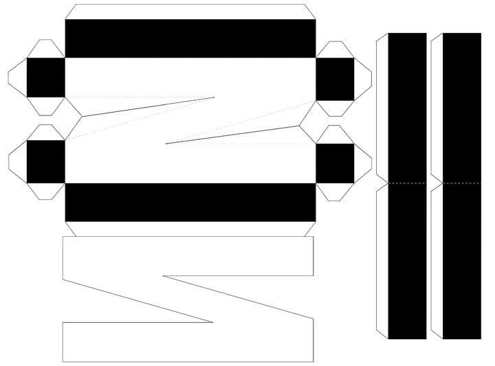 Molde de letras 3D – letra N