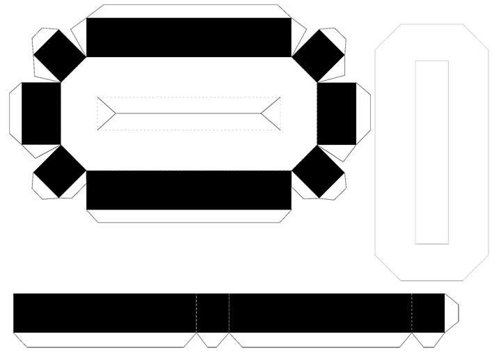 Molde de letras 3D – letra O