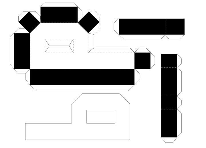 Molde de letras 3D – letra P