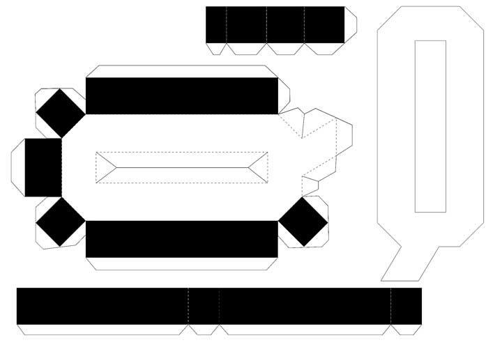 Molde de letras 3D – letra Q