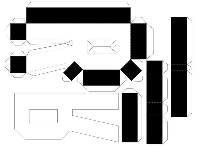 Molde de letras 3D – letra R