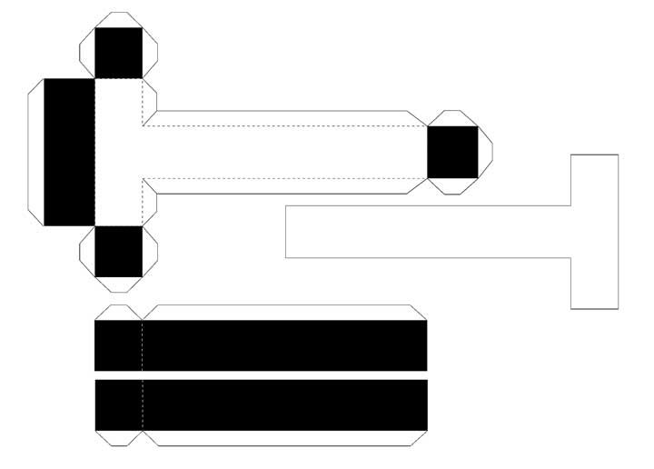 Molde de letras 3D – letra T
