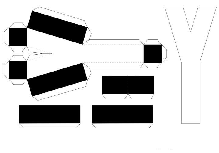Molde de letras 3D – letra Y