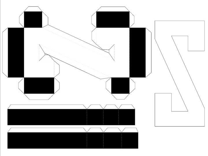 Molde de letras 3D – letra Z