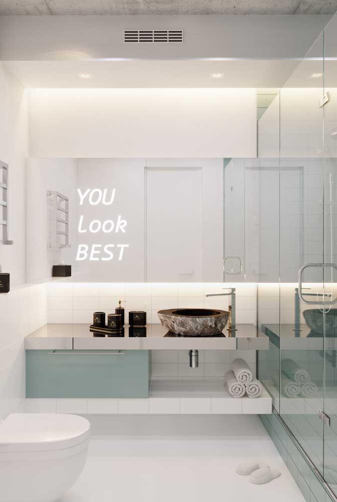 Frases e mensagens inspiradoras também se encaixam na proposta de decoração criativa