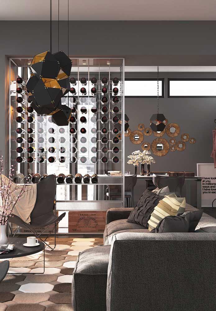 Divisória porta garrafas; uma ótima maneira de unir o útil ao decorativo