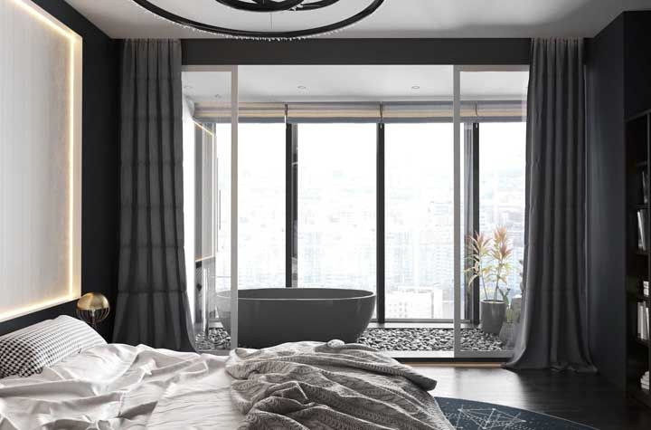 Um projeto de quarto de casal para arrancar suspiros