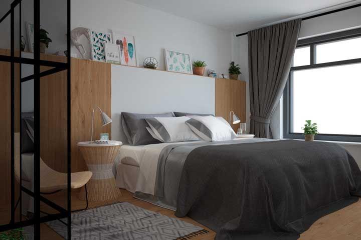 Fibras naturais ganham destaque na decoração desse quarto de casal